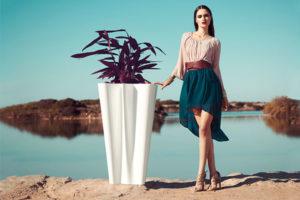 """Collection Synthetic """"ByeBye"""" - Bac à plantes décoratif par Florabora"""